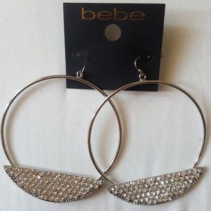 Bebe Hoop with Rhinestone plate